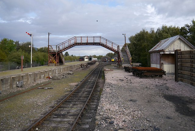 Remains of Aviemore Speyside station