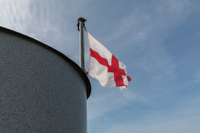 St George's Flag, The Tower, Walton on the Naze, Essex