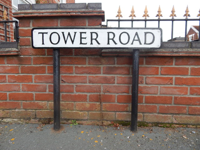 Tower Road sign