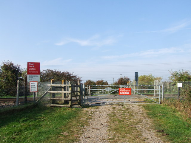 Pedestrian Level Crossing near Church Street, Higham