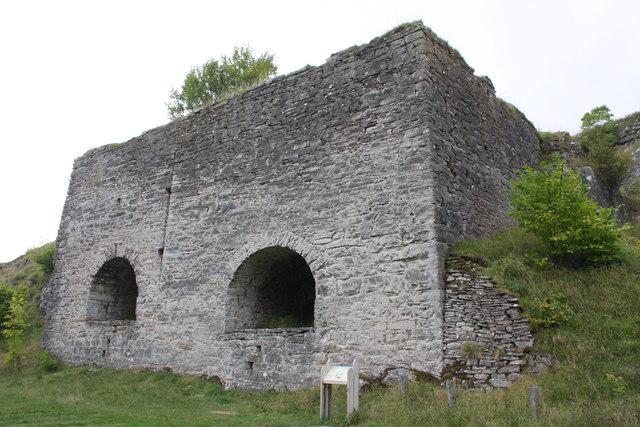 Lime kilns beside dismantled railway