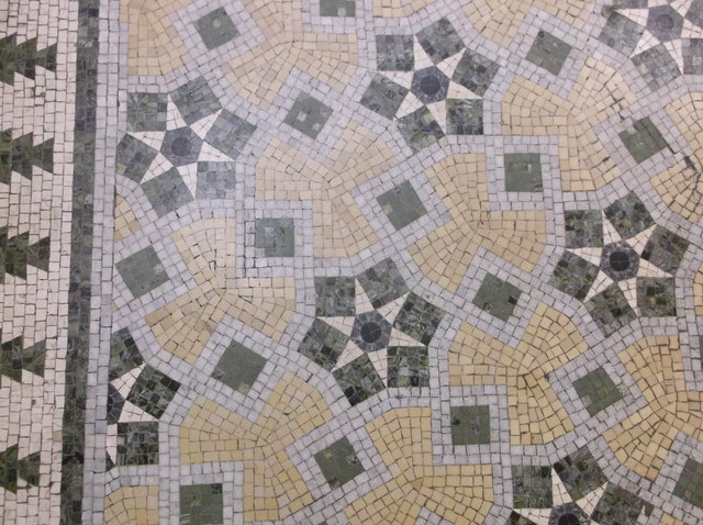Mosaic floor in Lloyds Bank, Cambridge