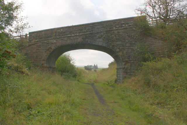 Bridge for footpath over dismantled railway