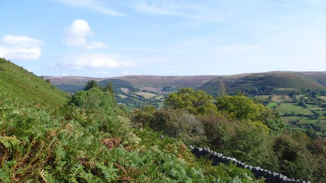 Hillside view near Crug Hywel
