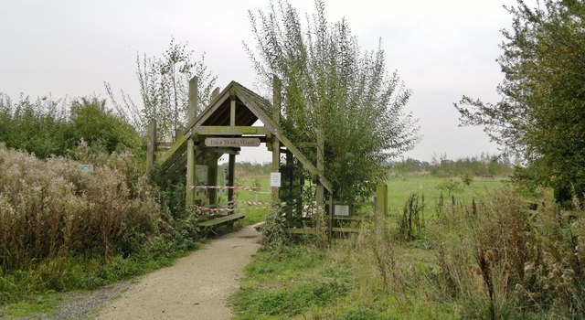 Entry gate to Monks Wood