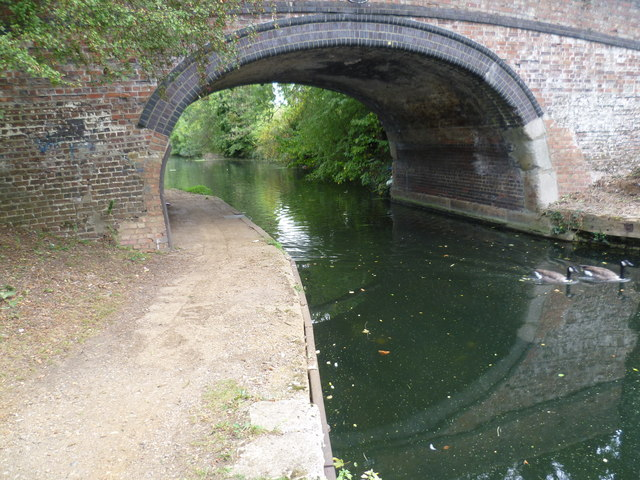Grand Union Canal passes under North Hyde Lane