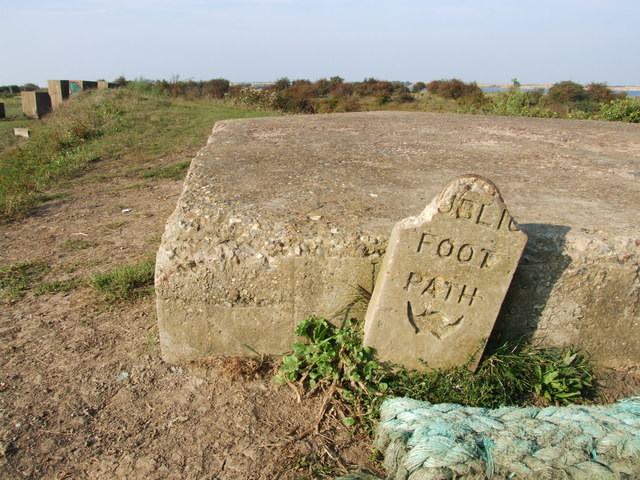 Public Footpath Post, Higham Marshes