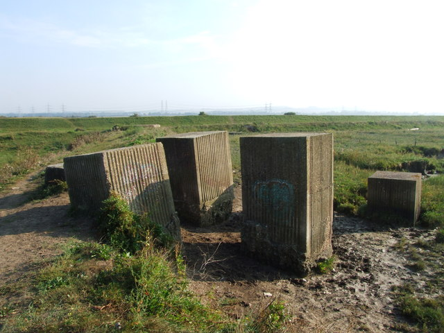 Concrete Blocks near Higham Marsh