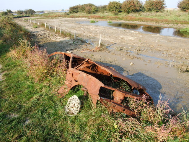 Remains of an abandoned Vauxhall, Higham Marshes