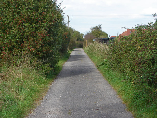 Access road to Liddington Hall