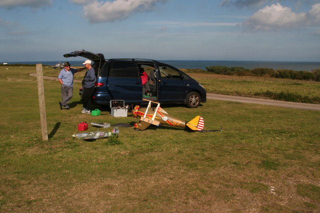 Model aircraft at Weybourne Airfield