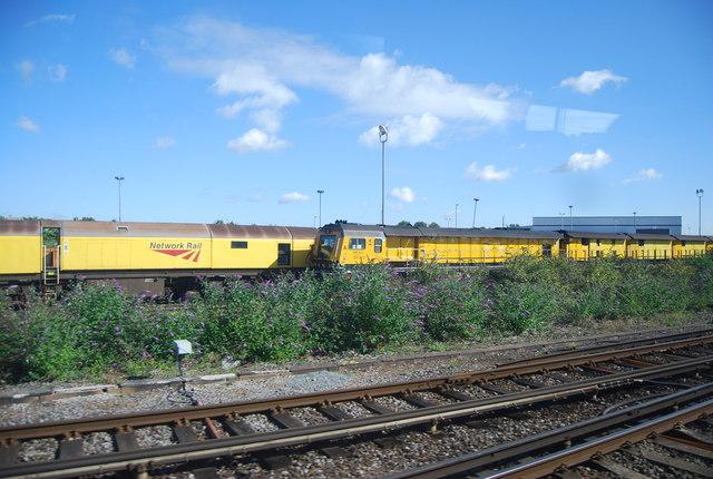 Network rail trains at Paddock Wood
