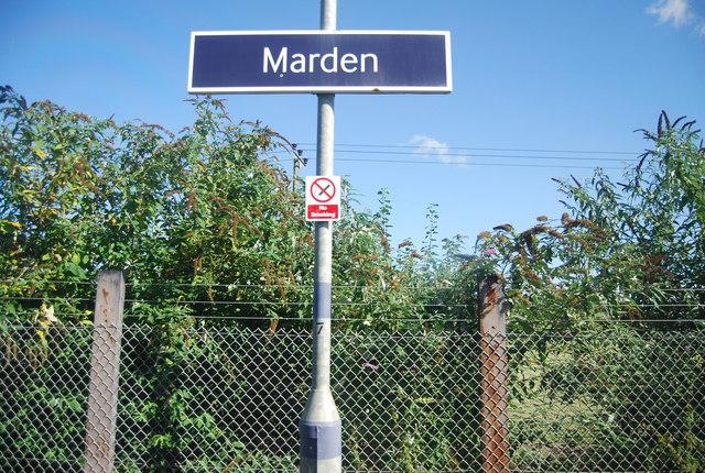 Marden Station sign
