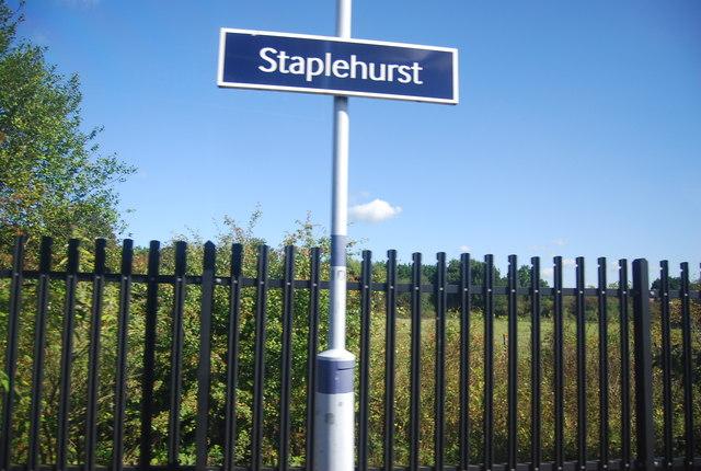 Staplehurst Station sign