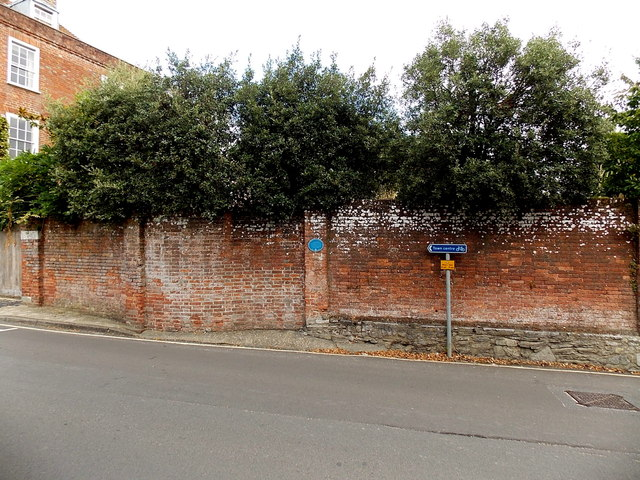 Ancient western boundary of Lymington