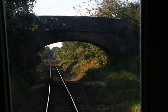 Approaching Holt: road bridge over North Norfolk Railway