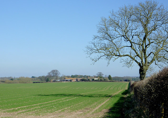 Farmland east of Hartlebury, Shropshire