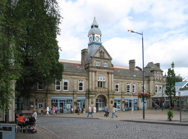 Darwen - Market Hall and Parliament Street