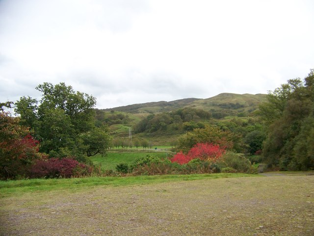 The view from the car park for Angus Garden, Barguillean