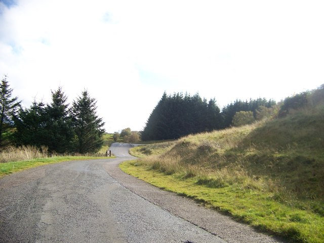 Minor road in Glen Lonan