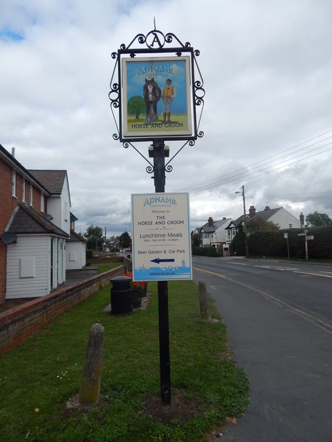 Adnams sign, Wivenhoe