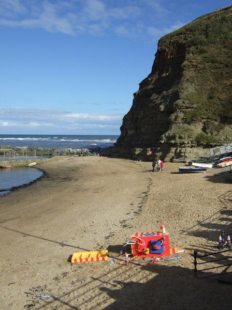 Beach, Staithes Harbour