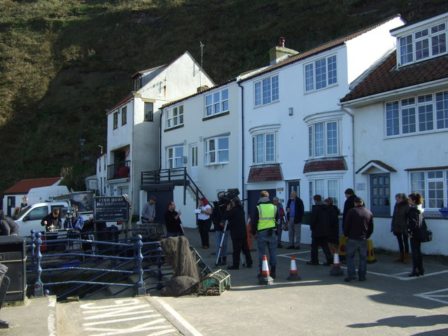 Filming of the CBeebies series Old Jack's Boat, Staithes Harbour