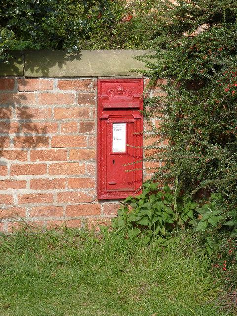 Littleborough postbox ref DH22 58
