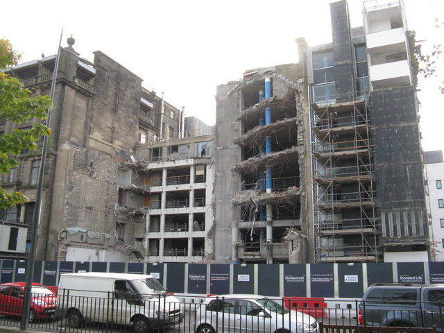 The BCCI building - remains of