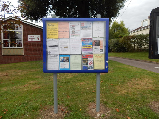 Noticeboard opposite library