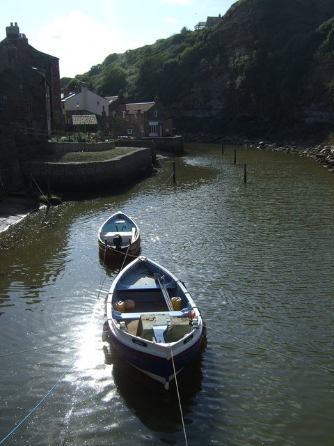 Boats on Staithes Beck