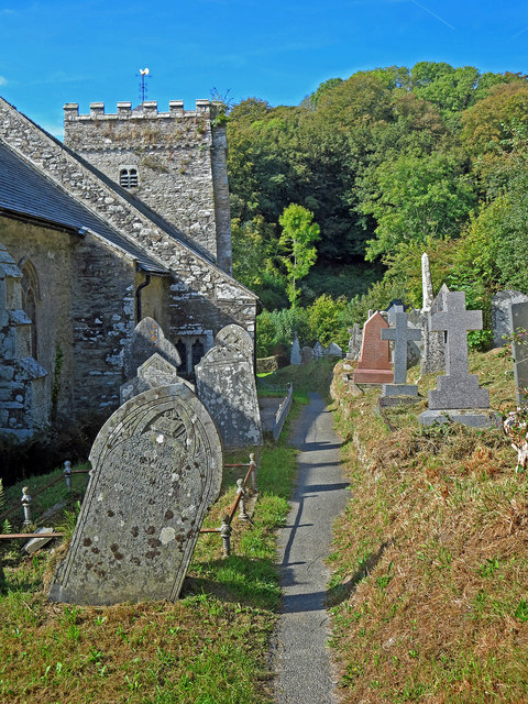 Path on the north side of Nevern church