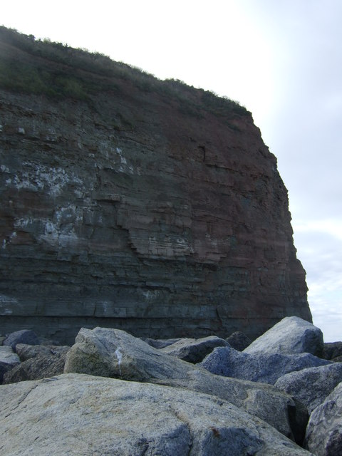 Sea defences and Cowbar Nab