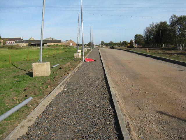 The Borders Railway will pass Whitehill Mains