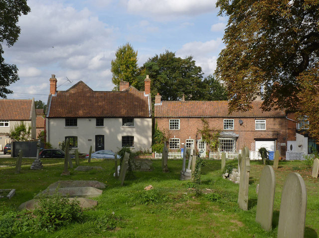 Church Farm House and adjoining cottages