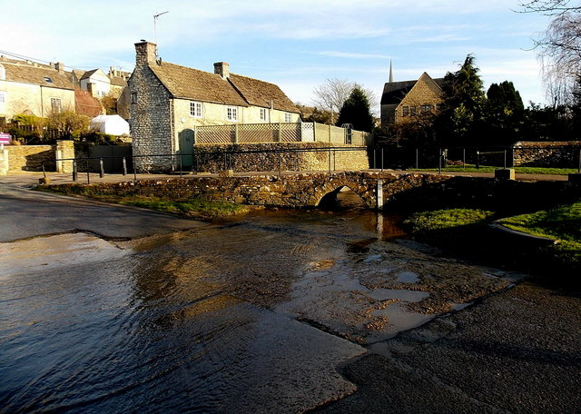 Cutwell Bridge and ford, Tetbury