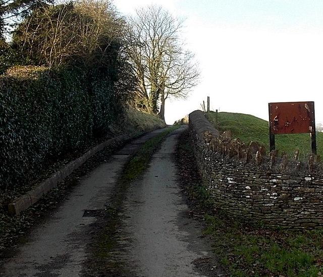 Lane to Cutwell Farm, Tetbury
