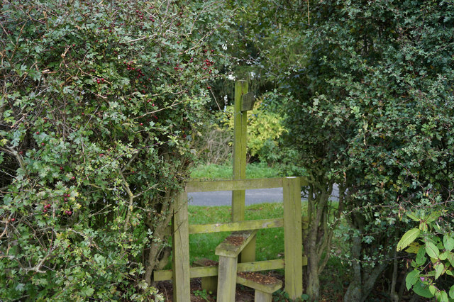 Stile on Moor Lane at Plump House