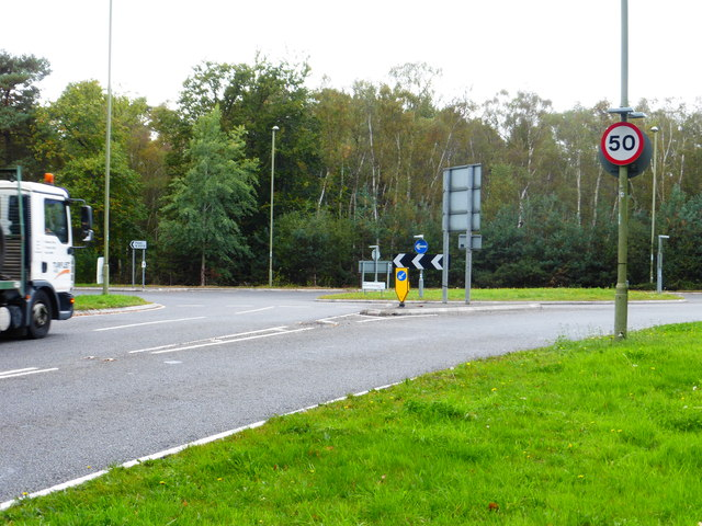 Roundabout on the A327