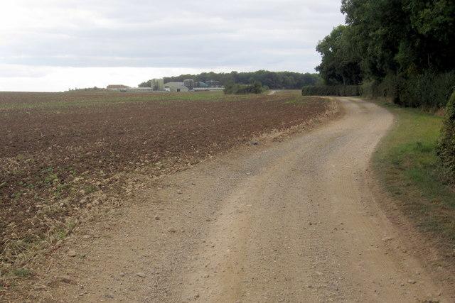 Bridleway towards the pig farm