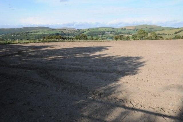 Arable field near Cefn-bach