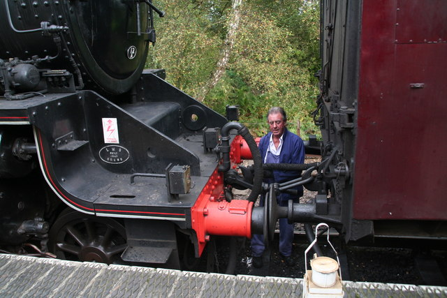 Coupling up the loco