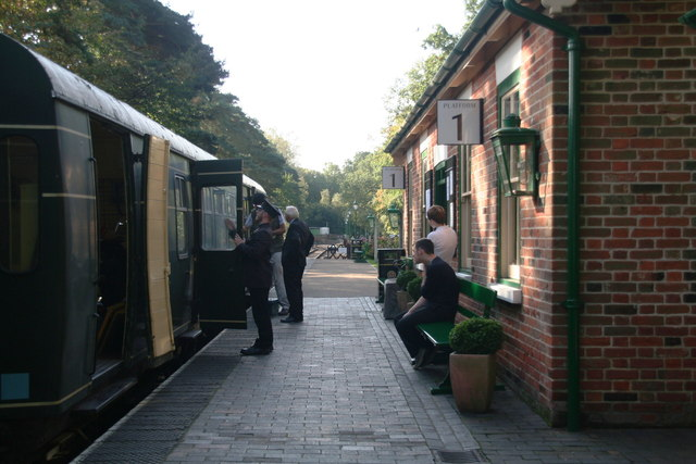 North Norfolk Railway: preparing to depart Holt Station