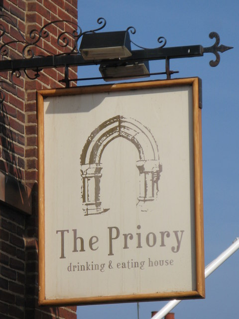 Sign for The Priory, Front Street / Hotspur Street, NE30