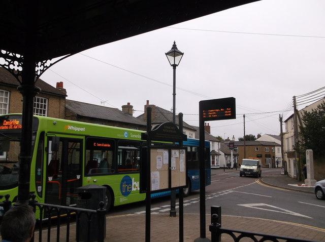 Cambridge bus, Somersham, Hunts
