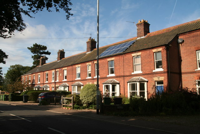 Terrace of houses in Cromer Road, Holt
