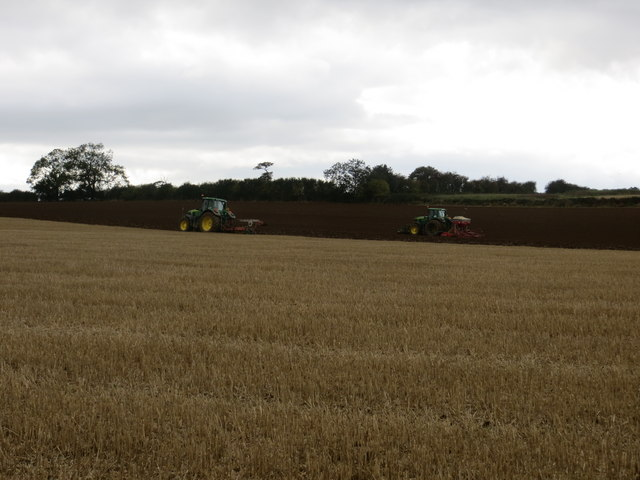 Ploughing and Harrowing in a field near Hutton Hill