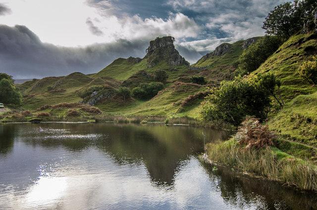 Lochan below Castle Ewen
