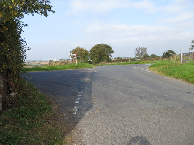 Road junction at Hardcake Hall