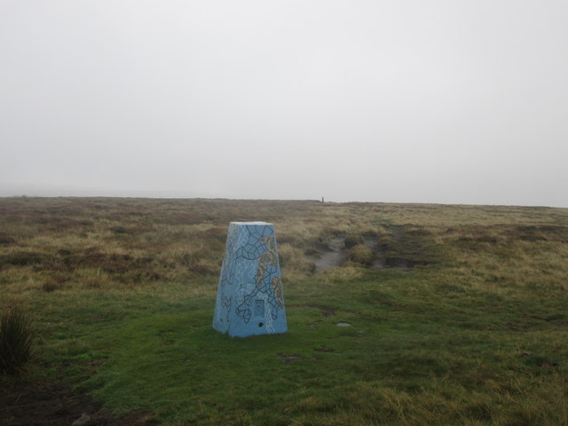 Trig point at High Brown Knoll